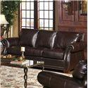 USA Premium Leather 5750 Sofa  - Item Number: 5750-30