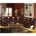 USA Premium Leather 5855 Sectional Sofa - Item Number: 5855-LF+RF