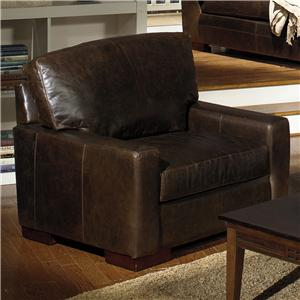 USA Premium Leather 5925 Contemporary Leather Chair