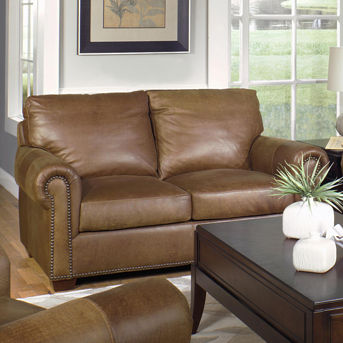USA Premium Leather 6955 Traditional Love Seat With