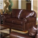 USA Premium Leather 7855 Leather Stationary Loveseat - Item Number: 7855-20