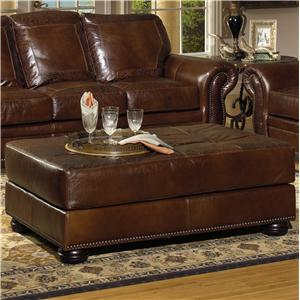 USA Premium Leather 8555 Cocktail Ottoman