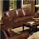 USA Premium Leather Highfield Traditional Leather Sofa - Item Number: 8555-30