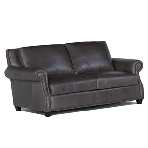 USA Premium Leather 8655 Leather Loveseat