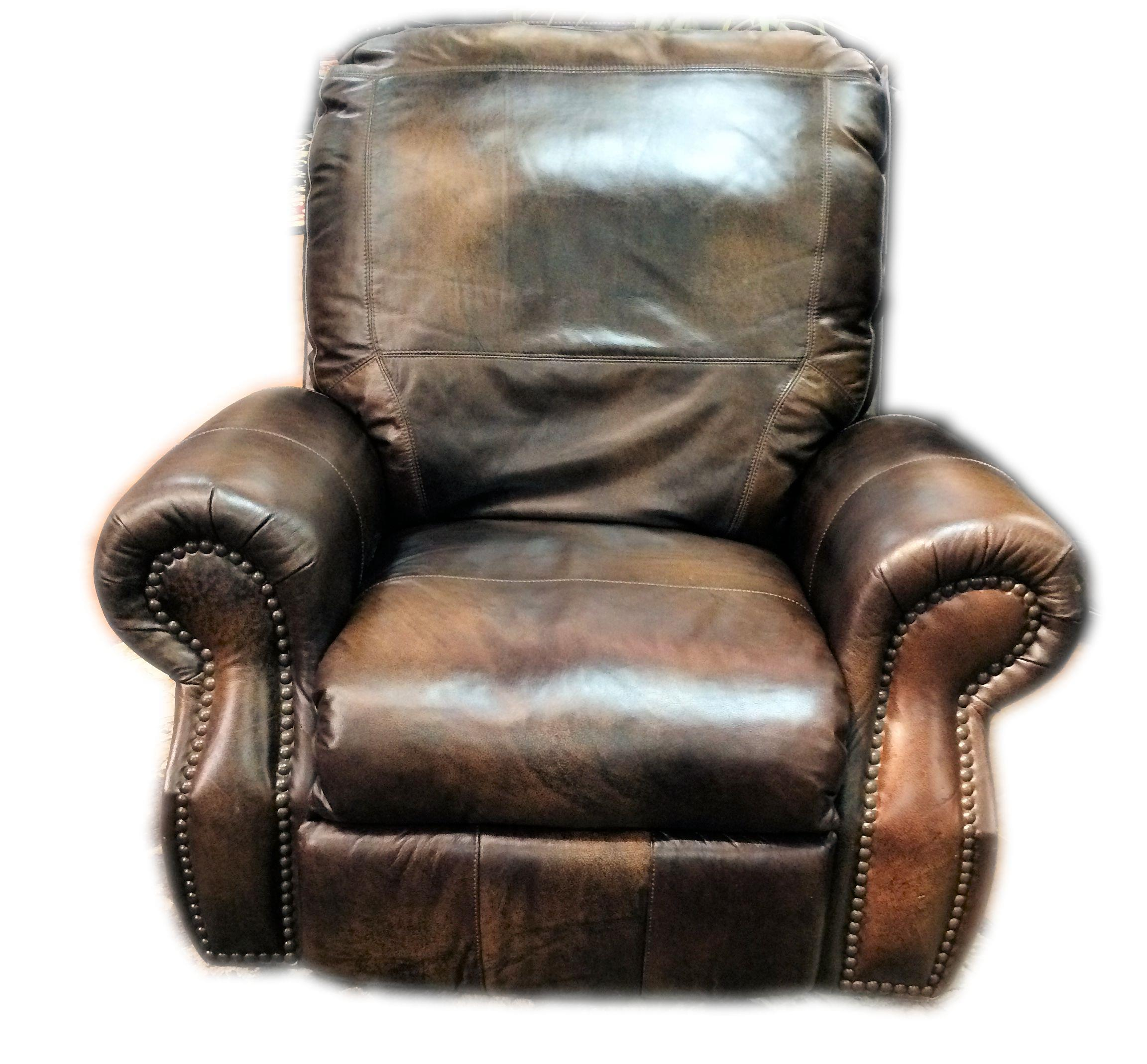 view angled gray reclined leather recliner gallery rockefeller quarter