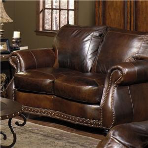 USA Premium Leather Cresent Love Seat
