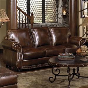 USA Premium Leather 8755 Chesterfield Leather Sofa