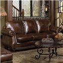 USA Premium Leather 8755 Sofa - Item Number: 8755-30