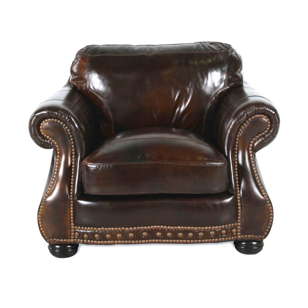 USA Premium Leather 8755 Chesterfield Leather Chair - Item Number: USAL-8755-10