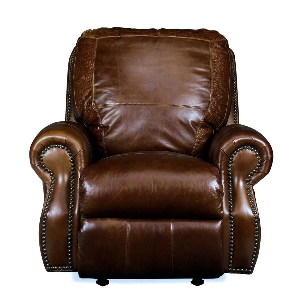 USA Premium Leather 8755 Chesterfield Leather Rocker Recliner - Item Number: USAL-8755-1R