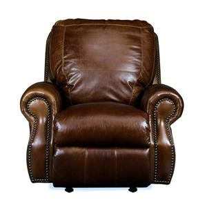 USA Premium Leather 8755 Chesterfield Leather Rocker Recliner
