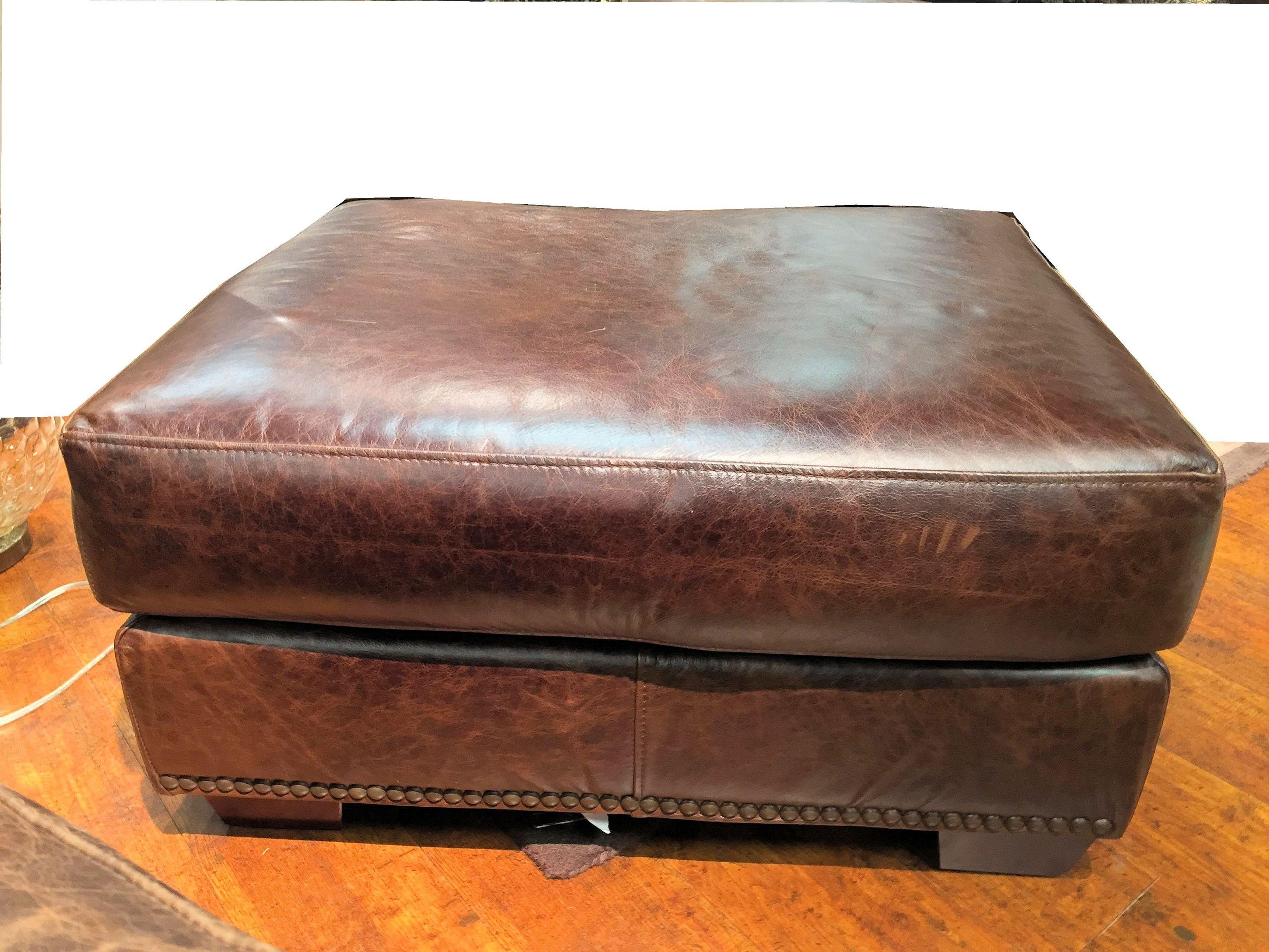 USA Premium Leather 9355 Ottoman Miskelly Furniture Ottomans