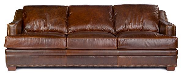USA Premium Leather Windsor Sofa - Item Number: 9355-30