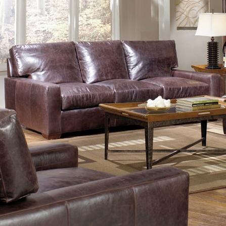 USA Premium Leather Adriano Leather Sofa - Item Number: 9955-30