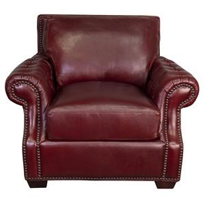 Jacoby 100% Top Grain Leather Chair