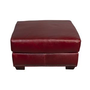 Jacoby 100% Top Grain Leather Ottoman