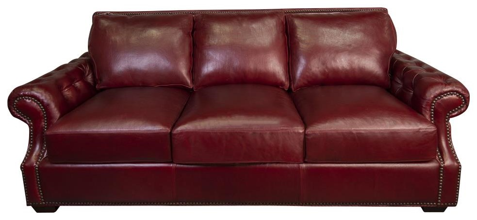 Jacoby 100% Top Grain Leather Sofa