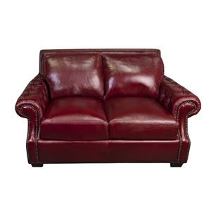 Jacoby 100% Top Grain Leather Loveseat