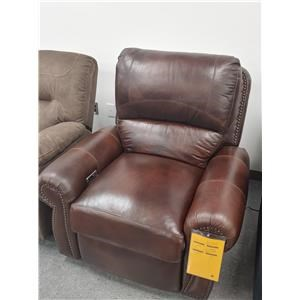 Last One! Power Leather Match Recliner