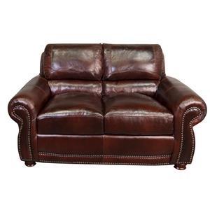 Peirce 100% Top Grain Leather Loveseat