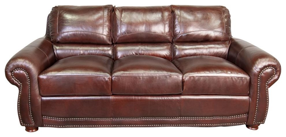 Pierce 100% Top Grain Leather Sofa