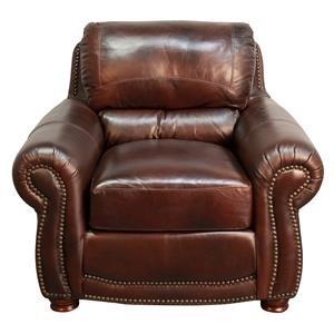 Peirce 100% Top Grain Leather Chair