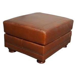 Rhodas 100% Top Grain Leather Ottoman