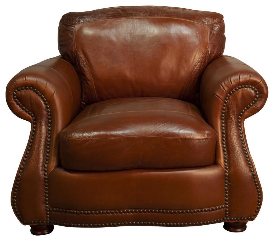 Rhodas Rhodas 100% Top Grain Leather Chair by USA Premium Leather at Morris Home