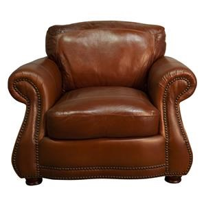 Rhodas 100% Top Grain Leather Chair