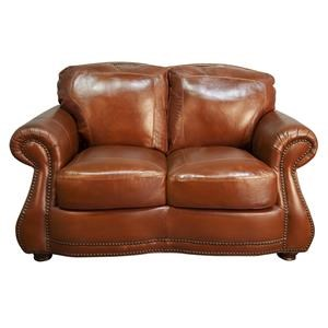 Rhodas Top Grain 100% Leather Loveseat