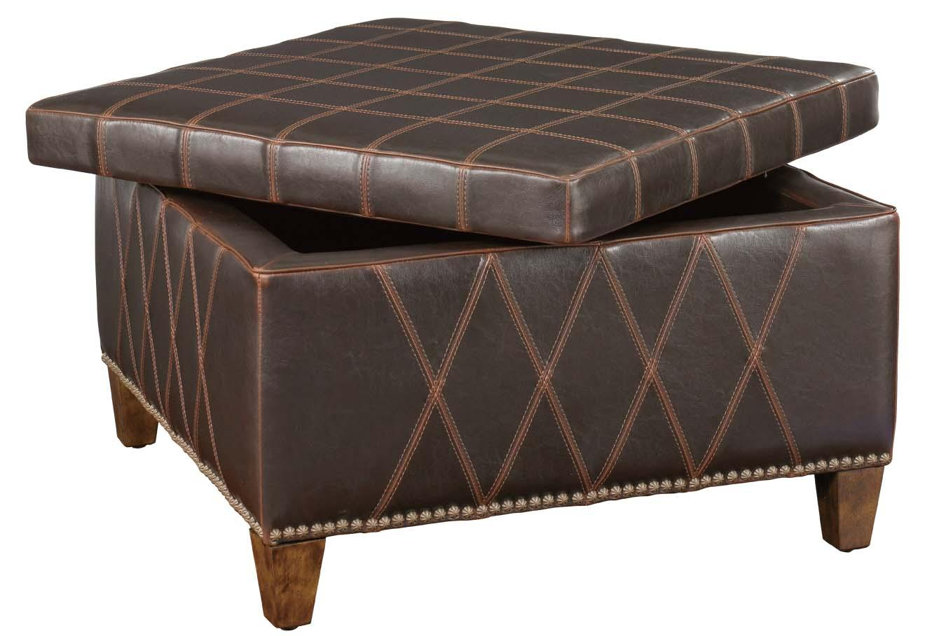 Uttermost Accent Furniture Wattley Storage Ottoman - Item Number: 23005