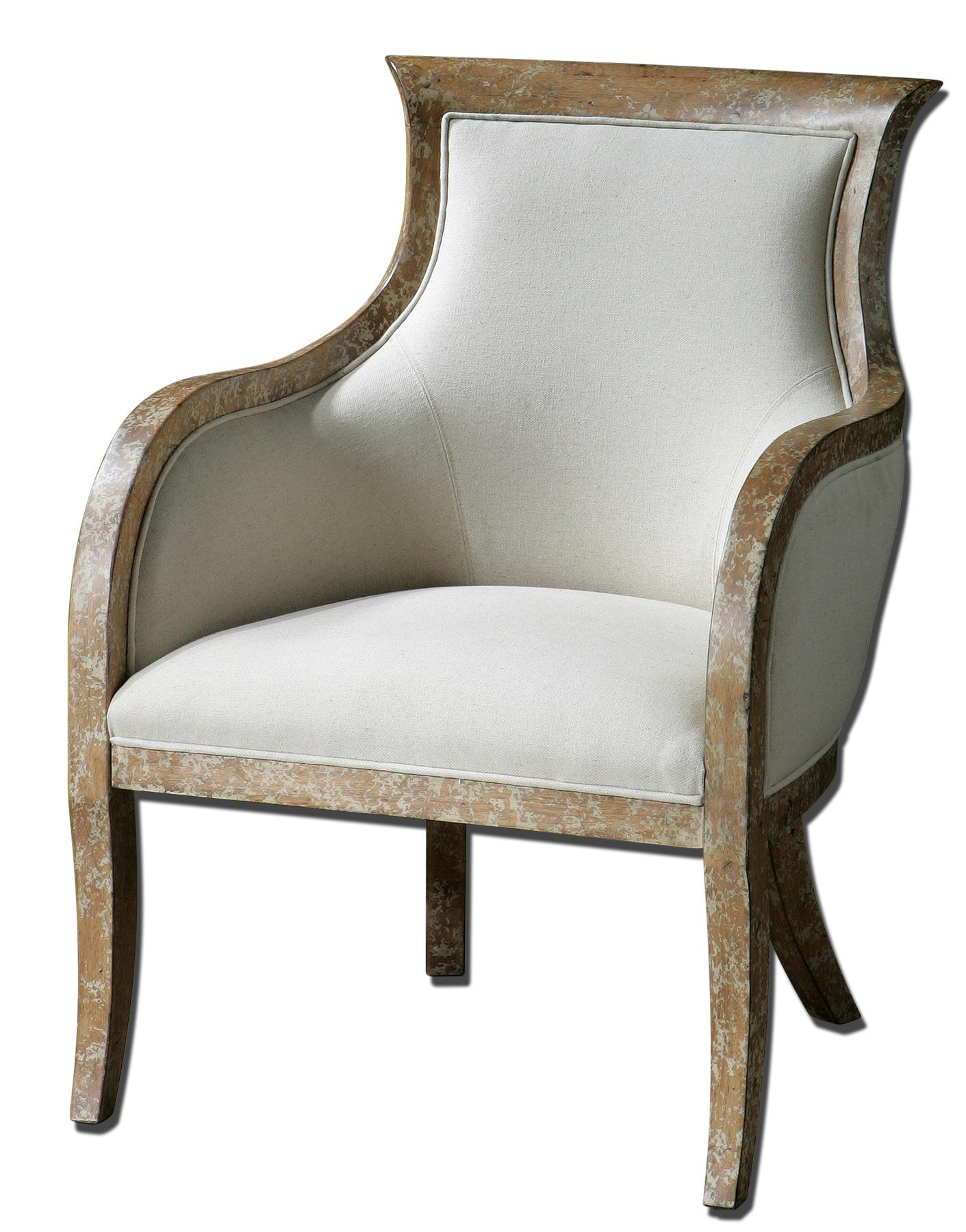 Accent Furniture - Accent Chairs Quintus Armchair by Uttermost at Suburban Furniture