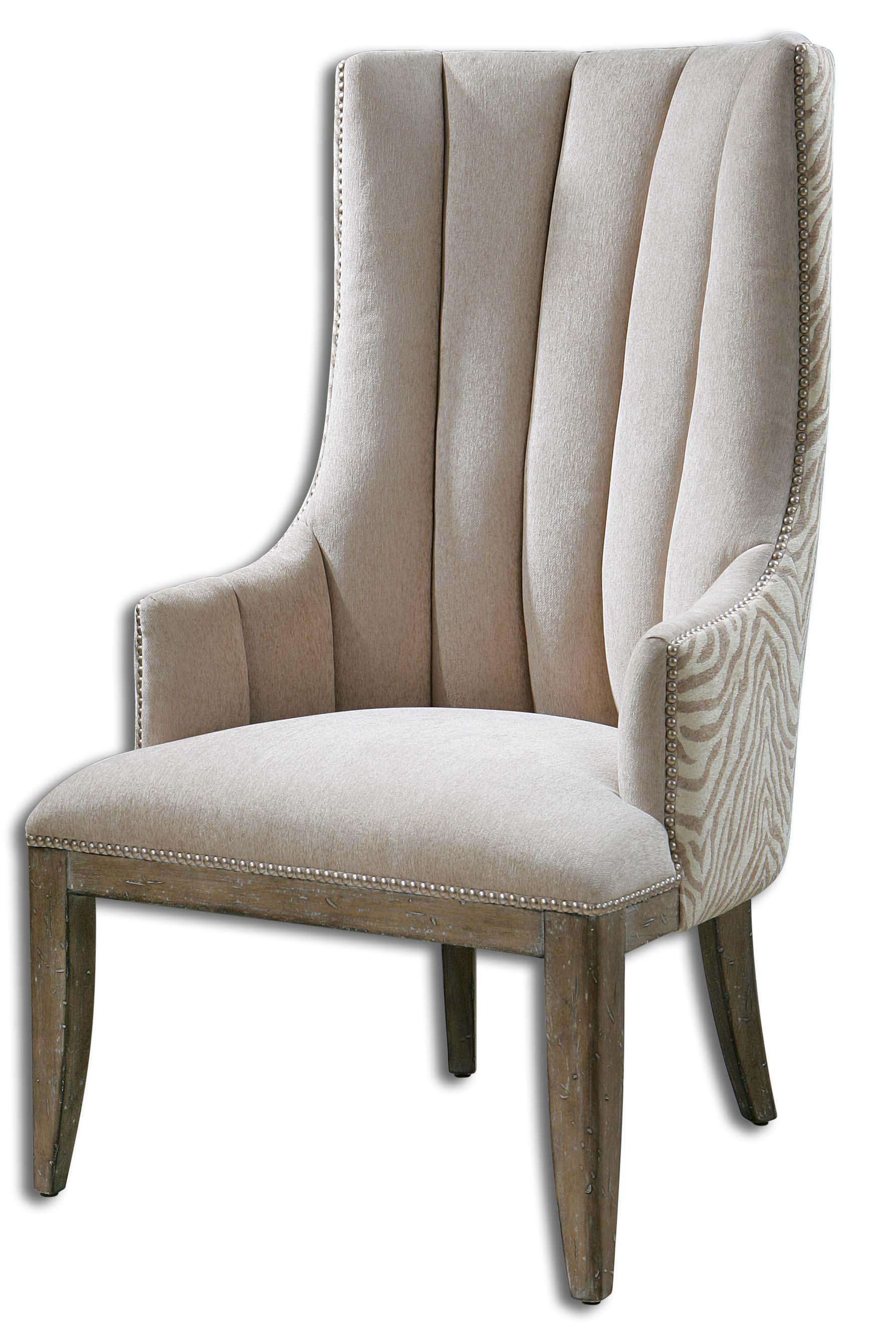 Uttermost Accent Furniture Zyla Chenille ArmChair - Item Number: 23117