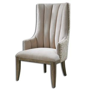 Uttermost Accent Furniture Zyla Chenille ArmChair