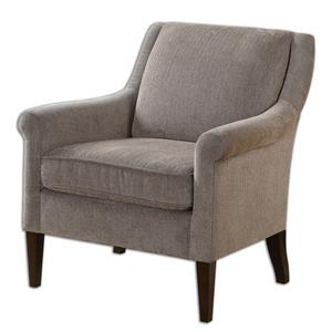 Uttermost Accent Furniture Nelle Herringbone Armchair