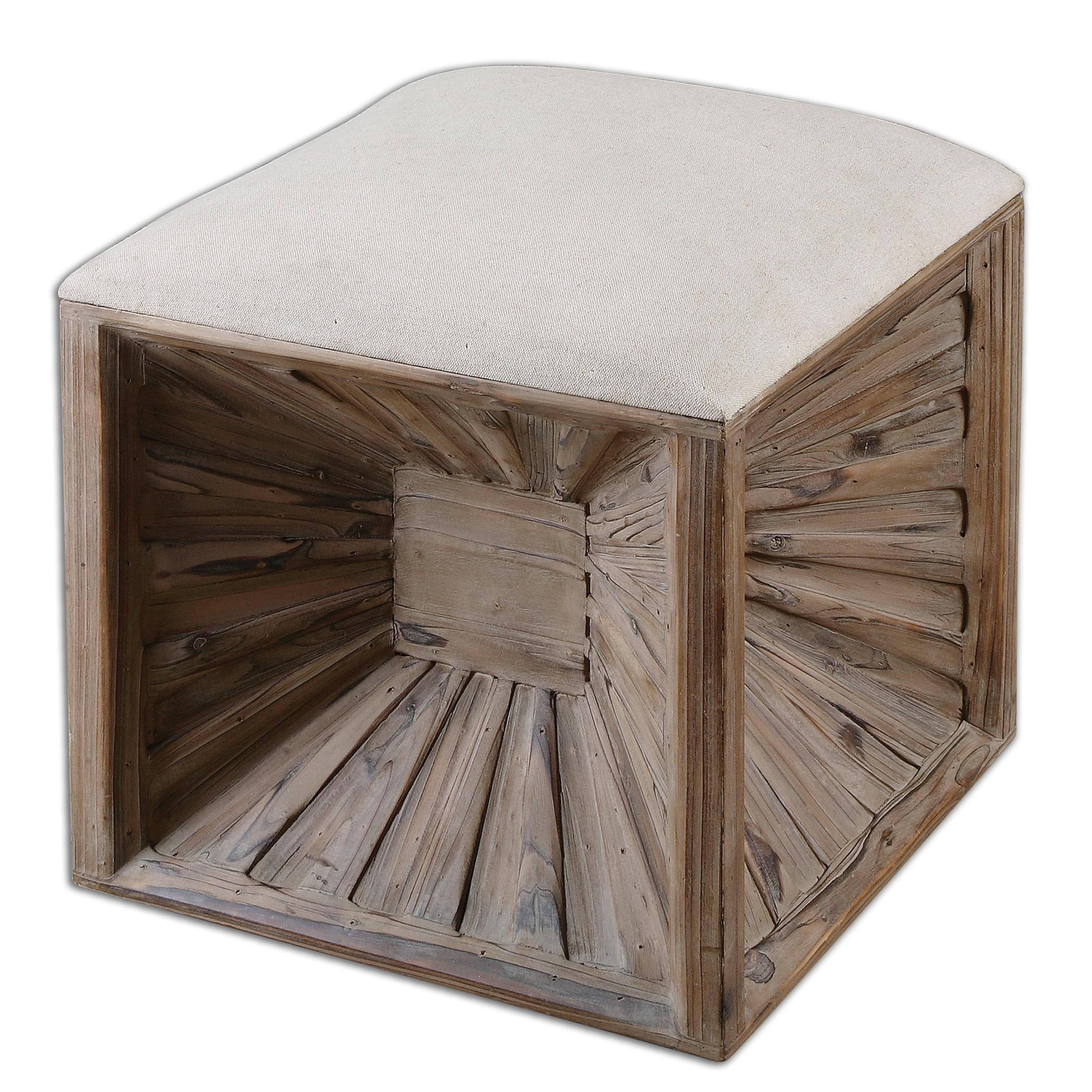 Accent Furniture - Ottomans Jia Wooden Ottoman by Uttermost at Suburban Furniture