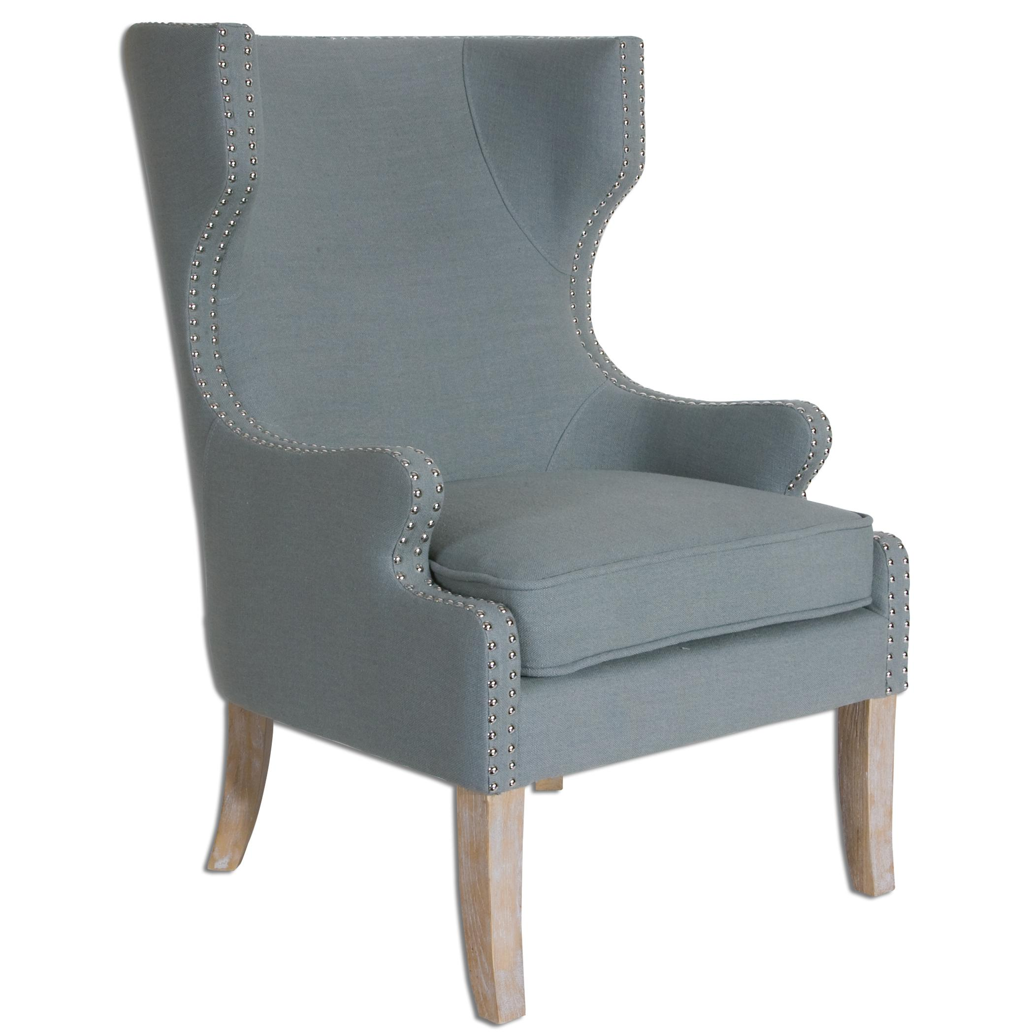Uttermost Accent Furniture Graycie High Back Wing Chair - Item Number: 23136