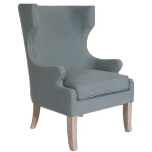 Uttermost Accent Furniture Graycie High Back Wing Chair
