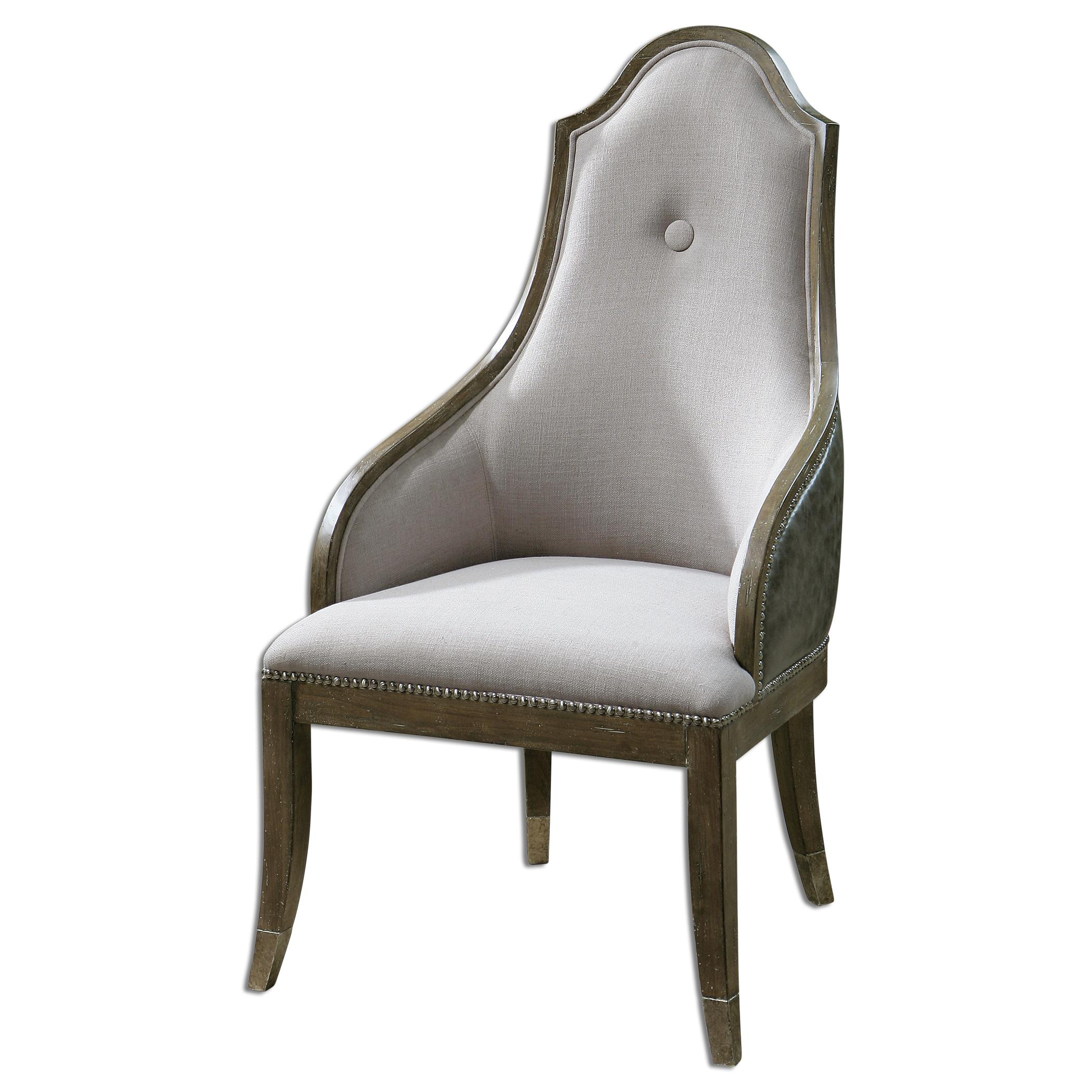 Uttermost Accent Furniture Sylvana Gray Accent Chair - Item Number: 23161
