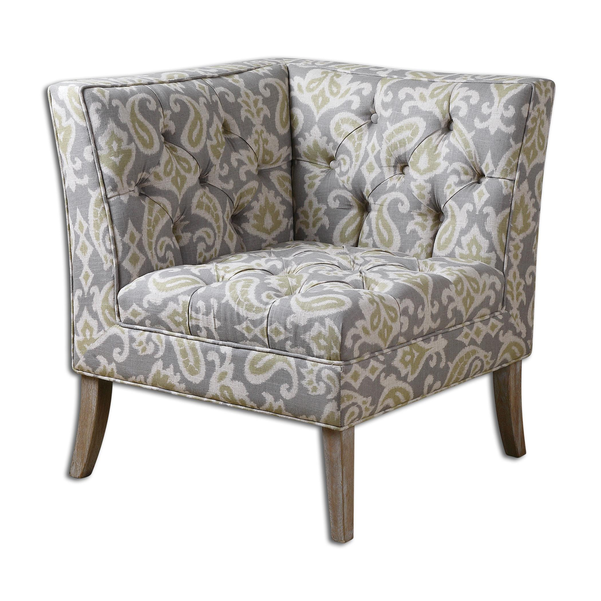 Uttermost Accent Furniture Meliso Tufted Corner Chair - Item Number: 23167