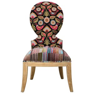 Cruzita Patterned Armless Chair