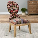 Uttermost Accent Furniture Cruzita Patterned Armless Chair