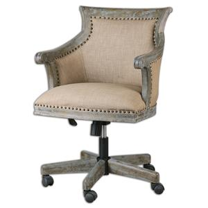 Uttermost Accent Furniture Kimalina Linen Accent Chair