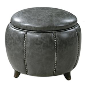 Uttermost Accent Furniture Linford Round Storage Ottoman