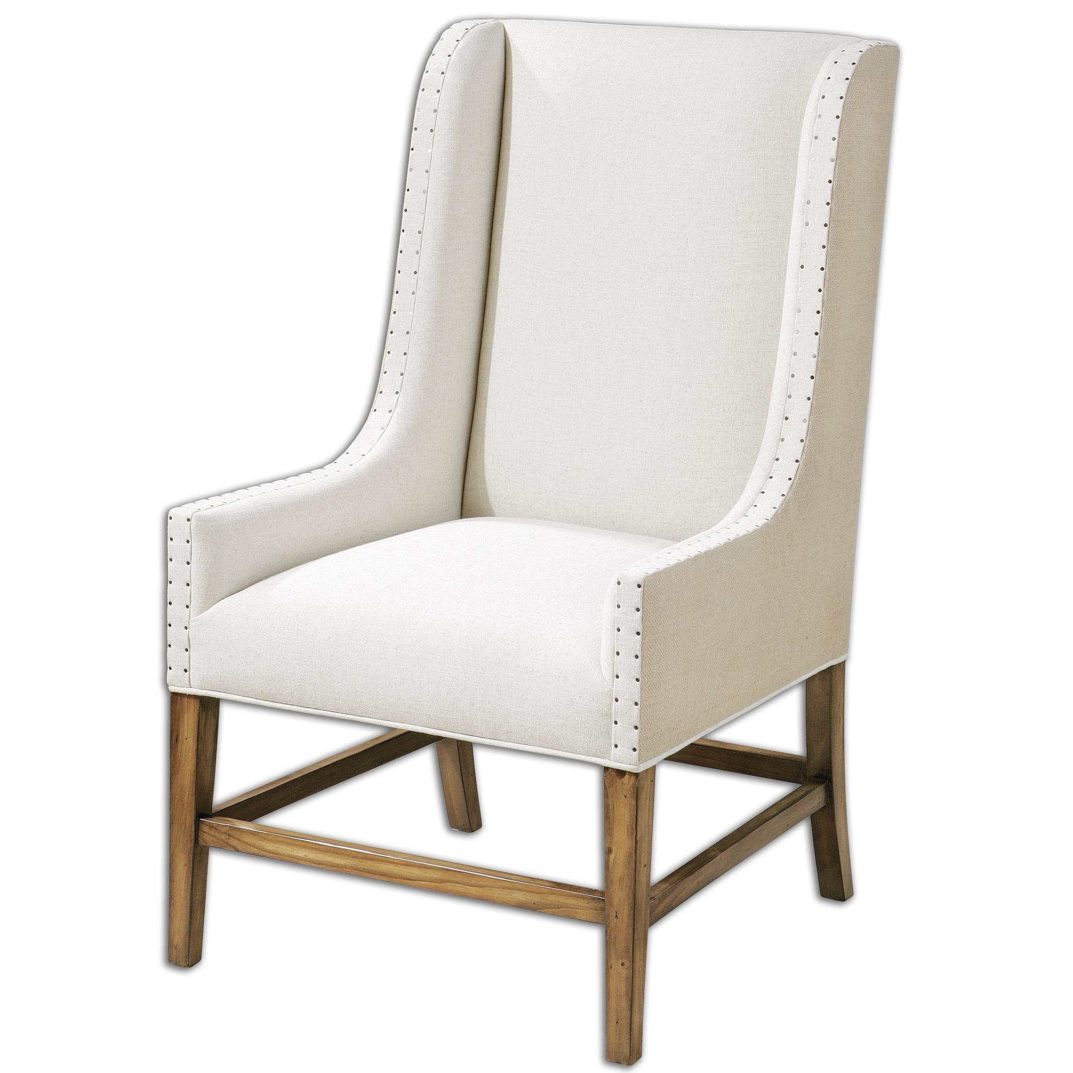 Uttermost Accent Furniture Dalma Linen Wing Chair - Item Number: 23189
