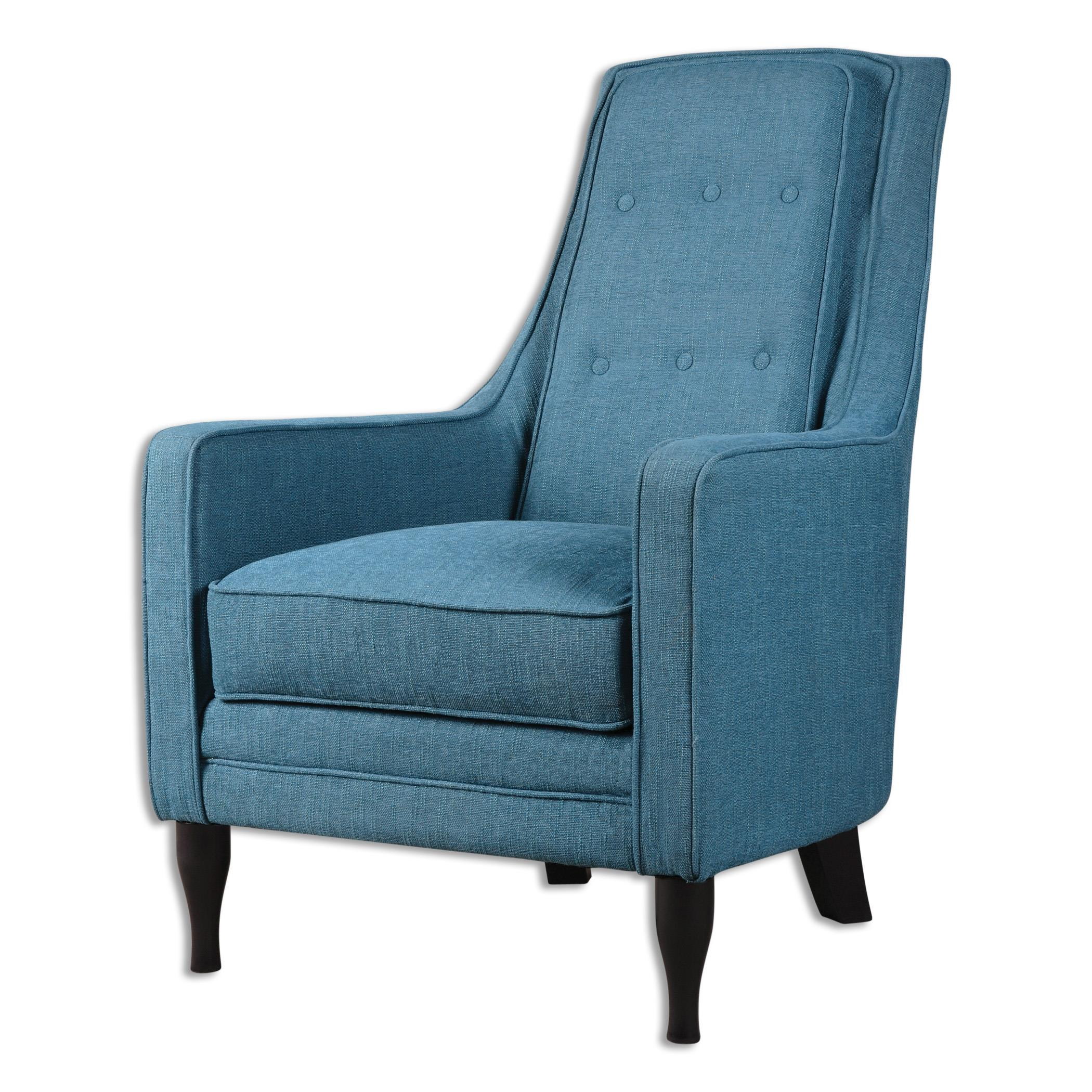 Uttermost Accent Furniture Katana Peacock Blue Armchair - Item Number: 23192
