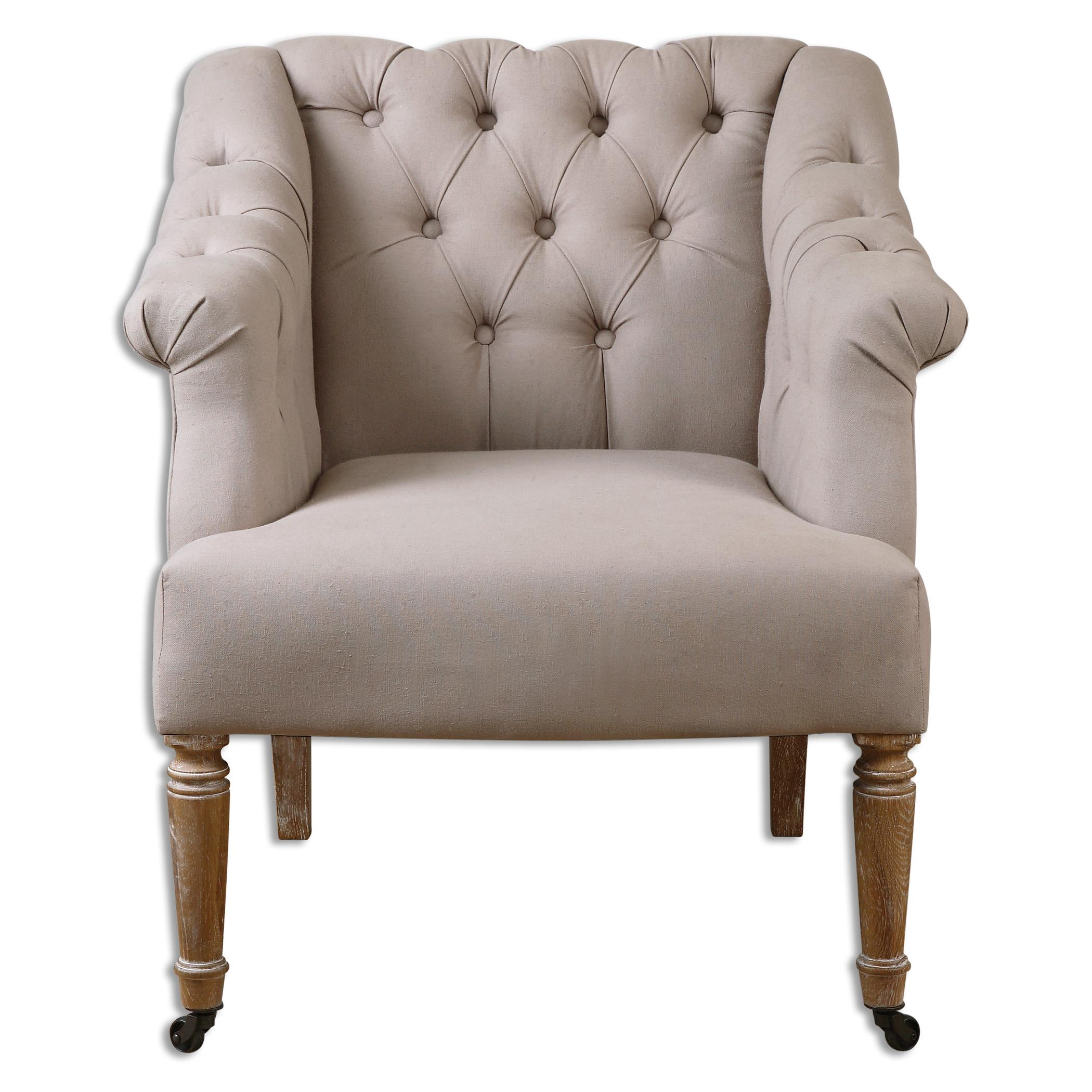 Uttermost Accent Furniture Khaldun Tufted Armchair - Item Number: 23194