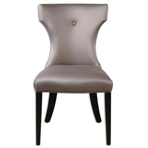 Uttermost Accent Furniture Wynter Satin Armless Chair