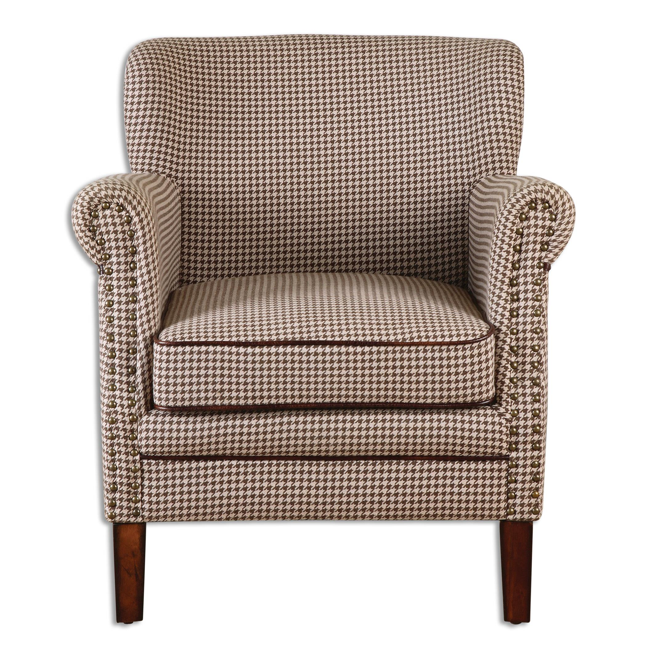 Uttermost Accent Furniture Tinsley Hounds-Tooth Club Chair - Item Number: 23205