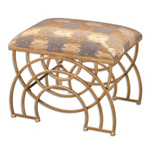 Uttermost Accent Furniture Marcedes Gold Small Bench